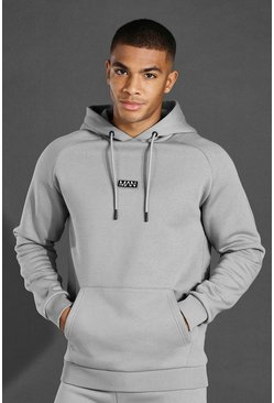 Grey marl grey Man Active Training Over The Head Hoodie