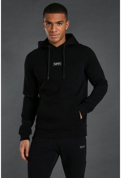 Black Man Active Training Over The Head Hoodie