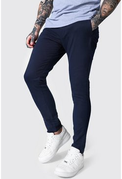 Super Skinny Chino Trouser, Navy blu oltremare