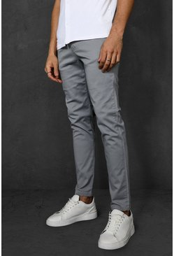 Grey Super Skinny Chino Trouser