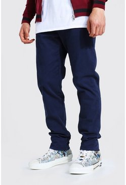 Skinny Fit Chino Trouser, Navy blu oltremare