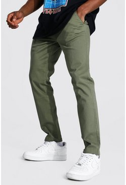 Skinny Fit Chino Trouser, Khaki Хаки