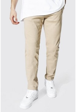 Skinny Fit Chino Trouser, Stone Бежевый