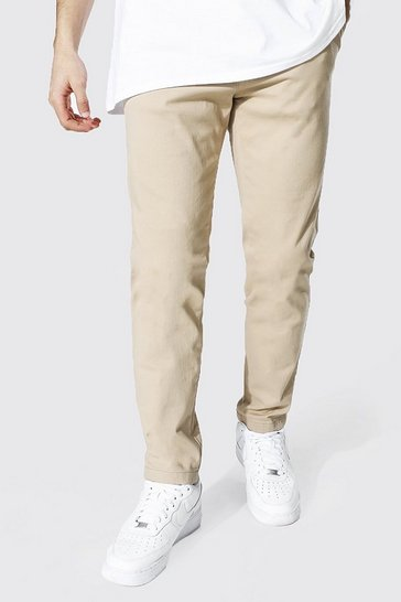 Stone beige Skinny Fit Chino Trouser