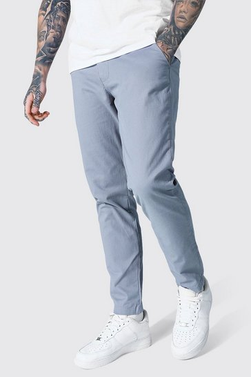 Grey Slim Fit Chino Trouser