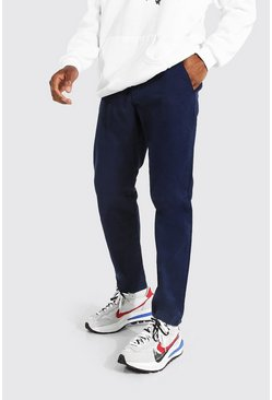 Slim Fit Chino Trouser, Navy blu oltremare