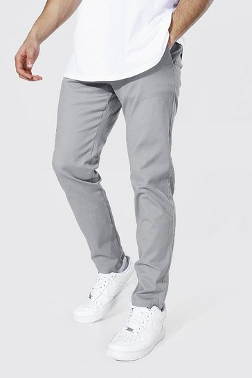 Grey Skinny Fit Chino Trouser