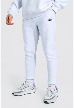 Ash grey Skinny Official Joggers