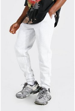 Ash grey Official Joggers i regular fit med veck