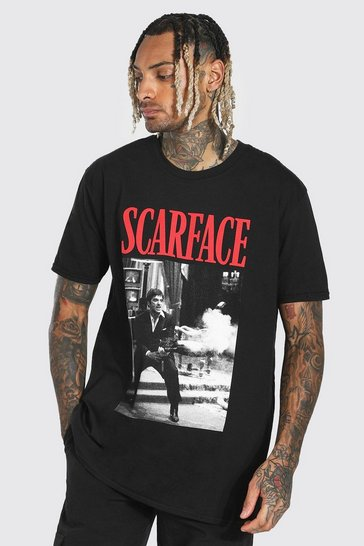 Black Oversized Scarface License T-shirt