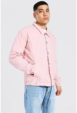 Pink Nylon Harrington