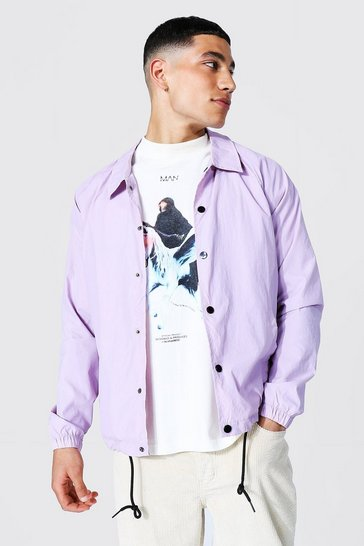 Lilac purple Nylon Harrington
