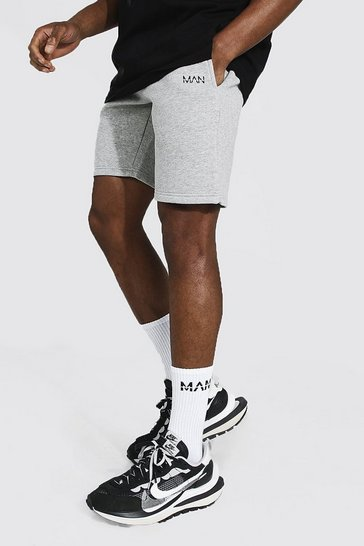 Grey marl grey Original Man Mid Length Slim Jersey Shorts