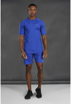 Cobalt blue Man Active T-shirt & Short Set