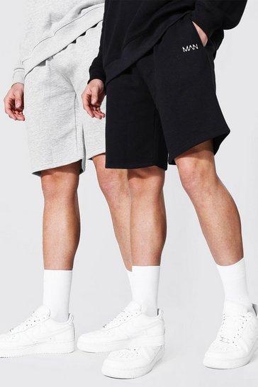 Multi 2 Pack Man Mid Length Regular Jersey Shorts