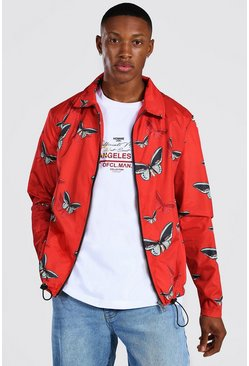 Red Butterfly Coach Jacket