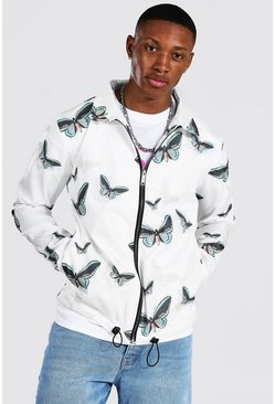 White Butterfly Coach Jacket