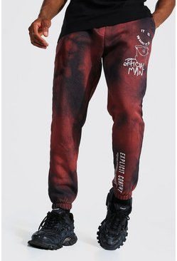 Rust orange Regular Official Man Graphic Tie Dye Joggers