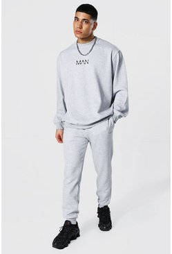 Grey marl grey Oversized Original Man Sweater Tracksuit