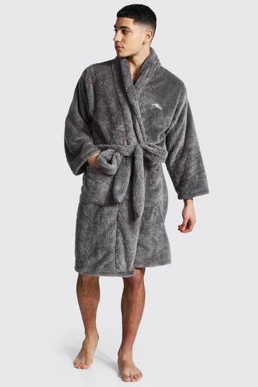 Grey Man Signature Fleece Dressing Gown