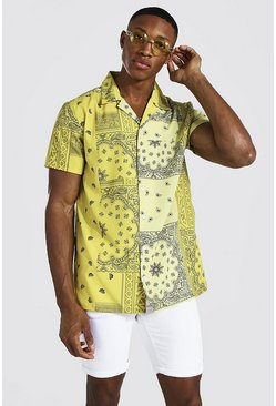 Yellow Short Sleeve Bandana Shirt