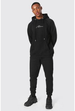 Black Man Signature Raglan Hooded Tracksuit