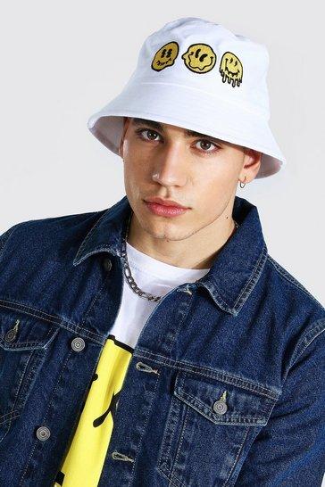 White Trippy Bucket Hat