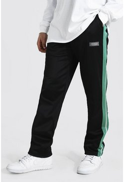 Green Loose Official Man Tricot Joggers With Tape