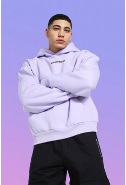 Lilac purple Boxy Man Official Hoodie