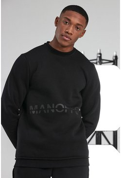 Black Man Active Official Logo Raw Sweatshirt