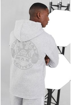 White Man Active Raw Official Large Logo Hoodie