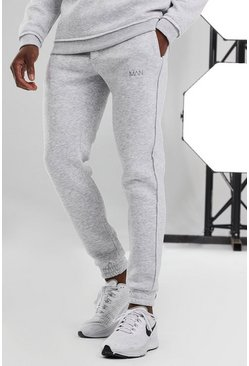 White Man Active Skinny Jogger With Raw Edge
