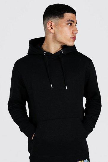 Black Recycled Regular Fit Hoodie