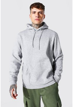 Grey marl grey Regular Fit Recycled Hoodie