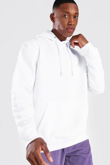 White Recycled Regular Fit Hoodie