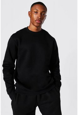 Black Regular Fit Recycled Sweatshirt