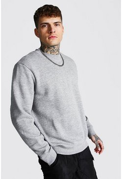 Grey marl grey Regular Fit Recycled Sweatshirt