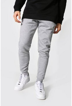Grey marl grey Slim Fit Recycled Jogger