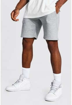 Grey marl grey Recycled Slim Fit Jersey Shorts