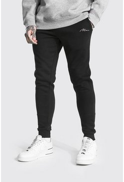 Black Recycled Man Signature Skinny Fit Jogger