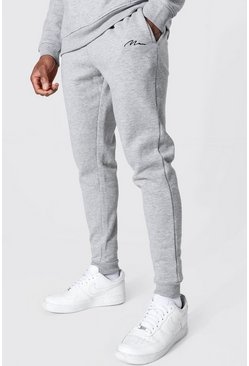 Grey marl grey Man Signature Skinny Fit Recycled Jogger