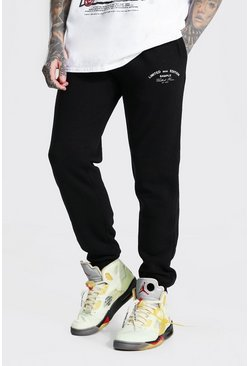 Black Regular Limited Edition Print Joggers
