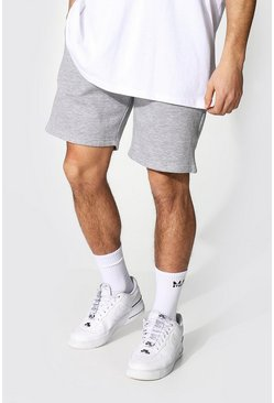 Grey marl grey Regular Fit Recycled Jersey Shorts