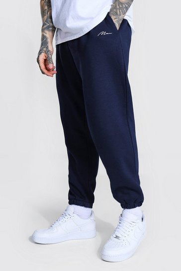 Navy Recycled Man Signature Loose Fit Jogger