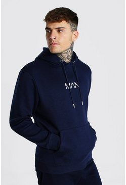 Navy Recycled Original Man Regular Fit Hoodie