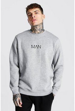Recycled Original Man Regular Sweatshirt, Grey marl grigio