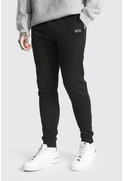 Black Original Man Skinny Fit Recycled Jogger