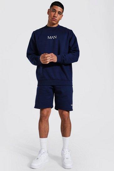 Navy Recycled Original Man Short Sweat Tracksuit