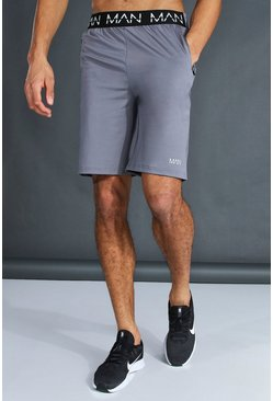 Charcoal grey Tall Man Active Waistband Shorts