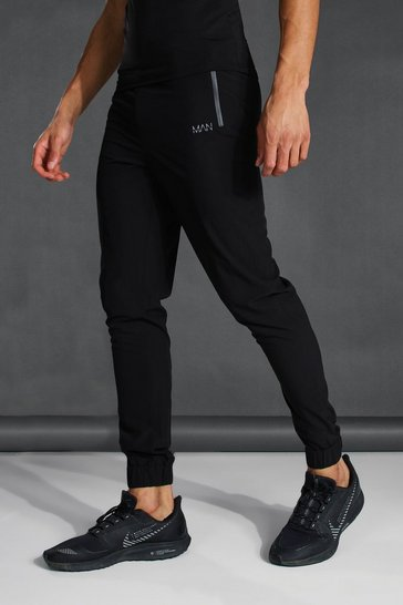 Black Tall Active Tapered Jogger With Man Waistband